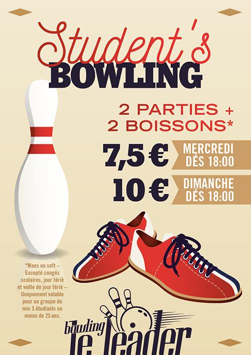Promo Student: 2 parties + 2 boissons: 7,5€